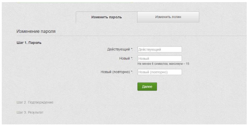 Изменить пароль входа в Приват 24